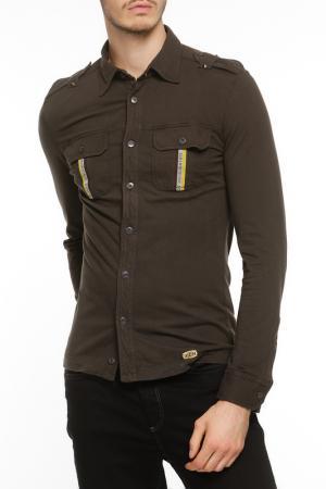 Рубашка John Richmond. Цвет: коричневый