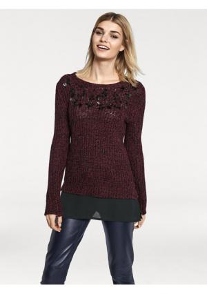 Пуловер Rick Cardona. Цвет: бордовый/черный