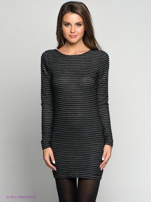 Платье Blend. Цвет: темно-серый, черный