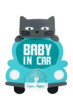 Наклейка на авто Baby in car Pets@work. Цвет: голубой