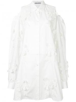 Рубашка Ribbon Mikio Sakabe. Цвет: белый