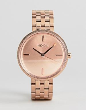 Nixon Наручные часы цвета розового золота Vix. Цвет: золотой