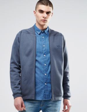 Adidas Originals Спортивная куртка Tact AY9280. Цвет: синий