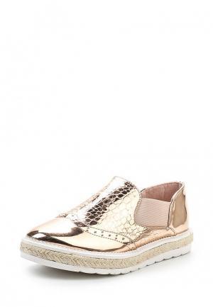 Слипоны WS Shoes. Цвет: золотой