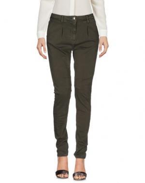 Повседневные брюки CARLA G.. Цвет: зеленый-милитари