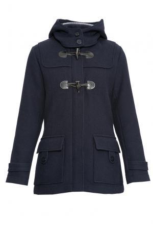 Пальто с капюшоном 170683 Saint James. Цвет: синий