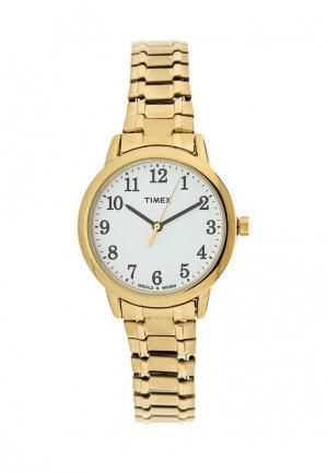 Часы Timex. Цвет: золотой