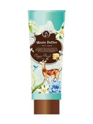 Тающий крем для тела с тропическими маслами и цветочными экстрактами, ароматом цветов свежести AHALO BUTTER. Цвет: бирюзовый