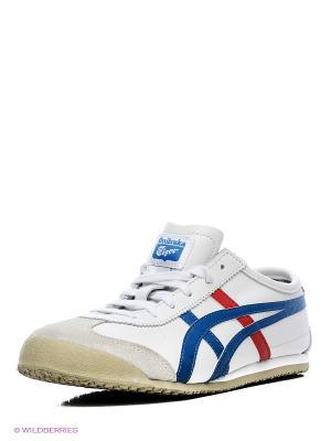 Кроссовки DL408 MEXICO 66 ONITSUKA TIGER. Цвет: белый, голубой