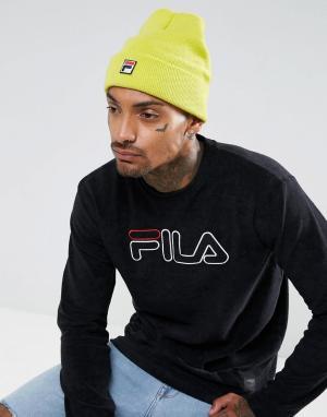 Fila Желтая шапка-бини с логотипом. Цвет: желтый