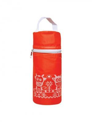 Термоконтейнер для бутылочки Мягкий LUBBY. Цвет: красный