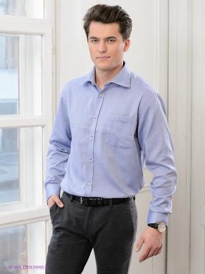 Рубашка Maestro. Цвет: белый, синий