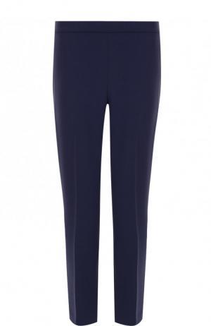 Однотонные укороченные брюки со стрелками Theory. Цвет: темно-синий