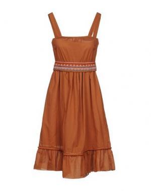 Платье до колена DIXIE. Цвет: коричневый
