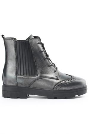 Ботинки NURIA. Цвет: никель, черный