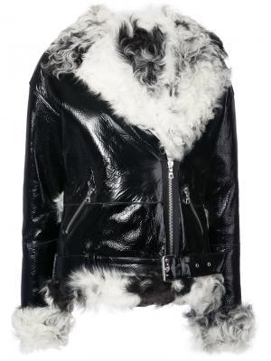 Куртка с отделкой Sandy Liang. Цвет: чёрный