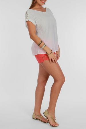 Блуза Zer otantik. Цвет: белый