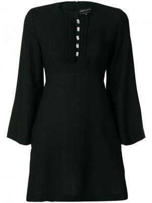 Платье с отделкой на планке Estrella Vanessa Seward. Цвет: чёрный