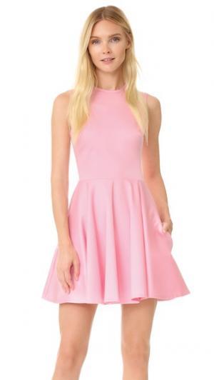 Хлопковое платье Holly Fulton. Цвет: розовый