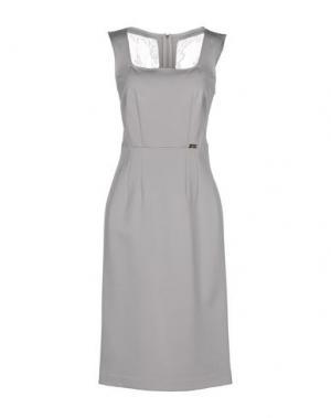 Платье до колена SONIA FORTUNA. Цвет: светло-серый
