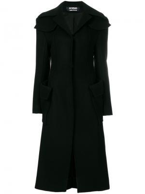 Однобортное пальто Jacquemus. Цвет: чёрный