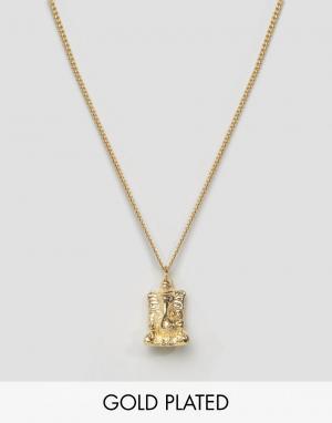 Love Bullets Позолоченное ожерелье с Ганешей Lovebullets. Цвет: золотой