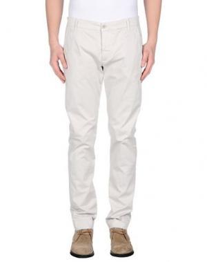 Повседневные брюки DNM-BRAND. Цвет: светло-серый