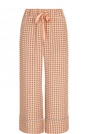 Укороченные шелковые брюки с пижамном стиле Bally. Цвет: розовый