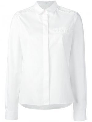 Рубашка оксфорд Chinti And Parker. Цвет: белый