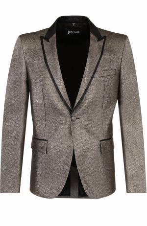 Приталенный пиджак с остроконечными лацканами Just Cavalli. Цвет: золотой