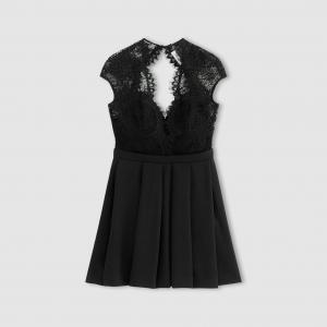 Платье из кружева 2 в 1 BA&SH. Цвет: черный