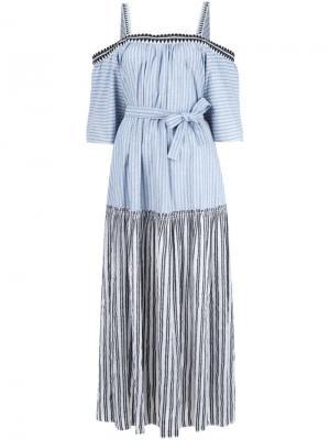 Платье макси Mara Lemlem. Цвет: синий