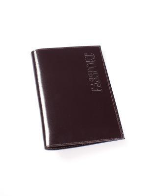 Обложка для паспорта BEFLER. Цвет: коричневый