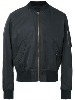 Куртка бомбер с принтом на спине Myne. Цвет: чёрный