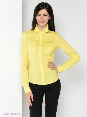 Рубашка SUGARLIFE. Цвет: желтый