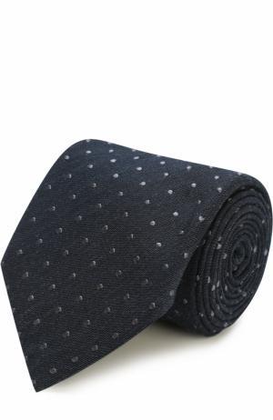 Галстук из смеси шелка и хлопка Tom Ford. Цвет: синий