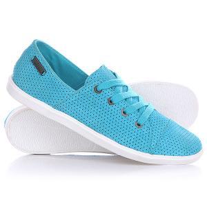 Кеды кроссовки низкие женские  Festival Shoe Blue Bird Volcom. Цвет: голубой