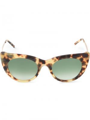 Солнцезащитные очки Sabry Kyme. Цвет: телесный