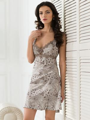 Ночная сорочка MIA-MELLA. Цвет: серый