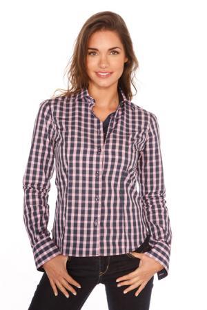Рубашка GAZOIL. Цвет: navy and pink checkered