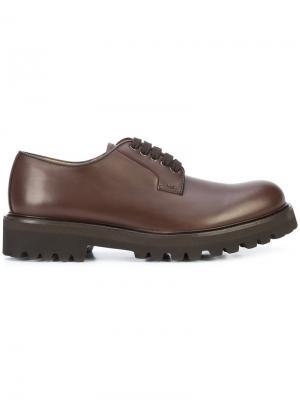 Туфли на шнуровке Paul Andrew. Цвет: коричневый