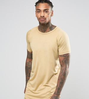 Other UK Удлиненная футболка. Цвет: светло-бежевый