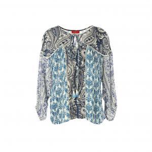 Блузка с рисунком RENE DERHY. Цвет: наб. рисунок синий