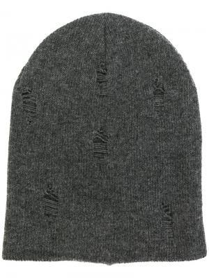 Классическая шапка Dondup. Цвет: серый