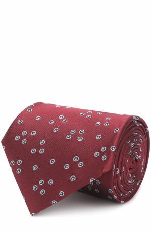 Шелковый галстук с узором Lanvin. Цвет: бордовый
