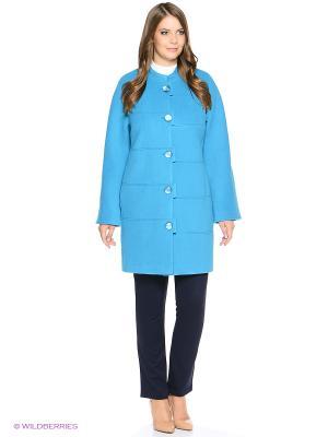 Пальто Electrastyle. Цвет: бирюзовый
