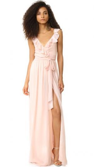 Платье с рюшами Lacey Joanna August. Цвет: балерина