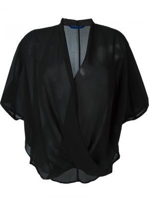Блузка с запахом Demoo Parkchoonmoo. Цвет: чёрный