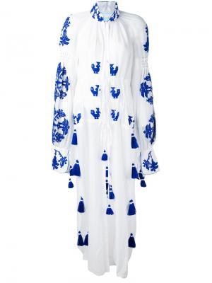 Платье-туника Chestnut Yuliya Magdych. Цвет: белый