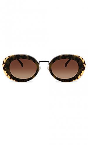 Солнцезащитные очки kandice Komono. Цвет: коричневый